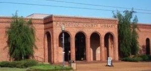 Front Entrance of Pontotoc County Library